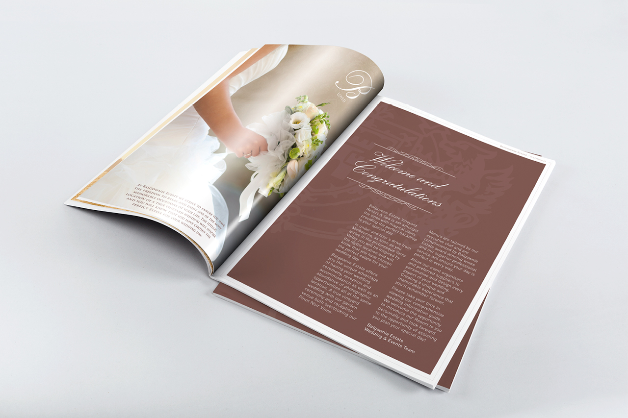 balgownie estate booklet design Maker and co design