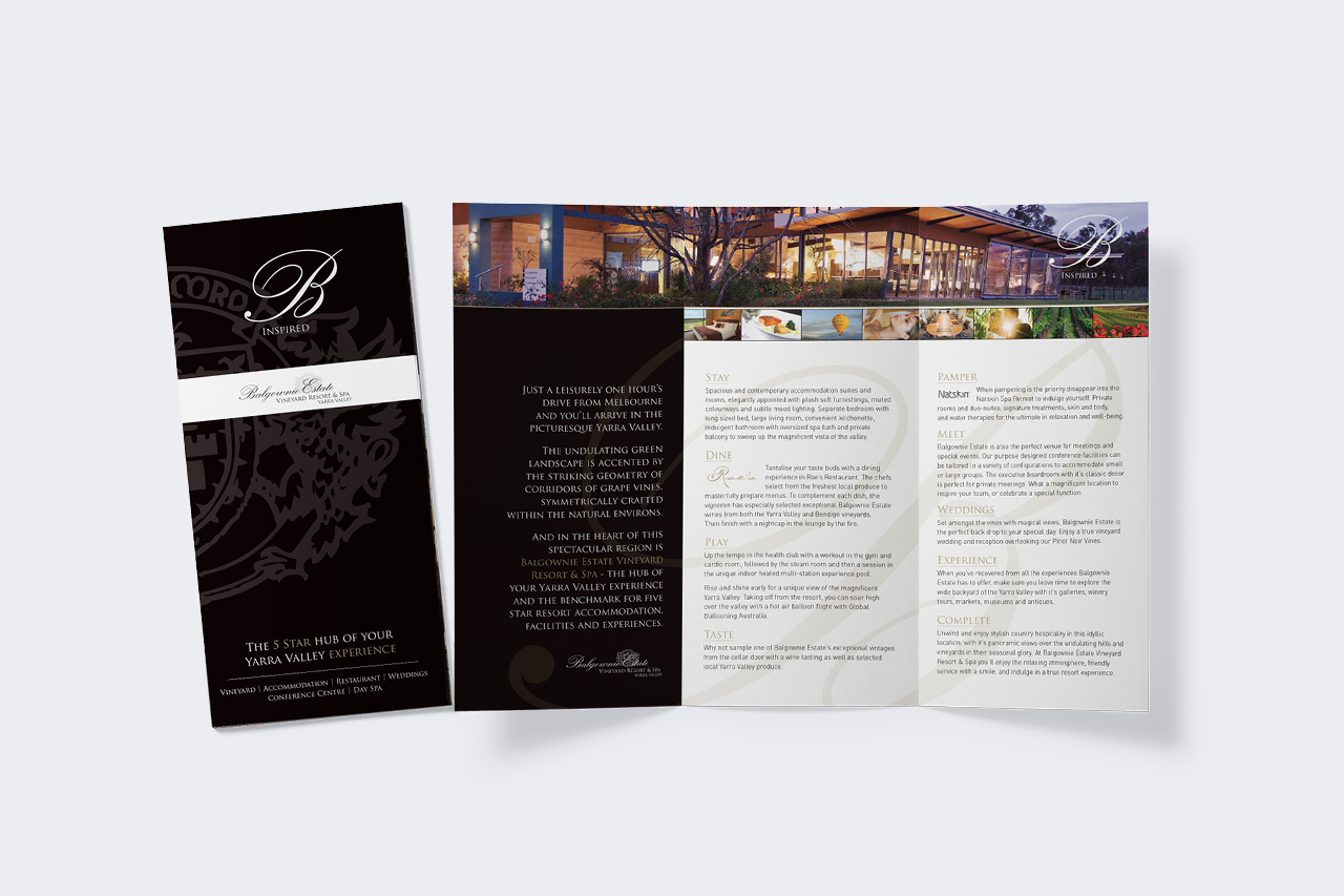 balgownie estate brochure design Maker and co design