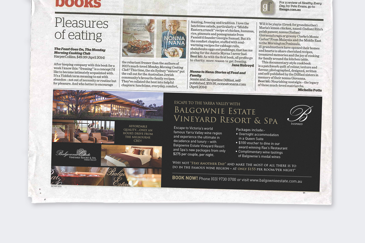 balgownie estate newspaper advertising design Maker and co design