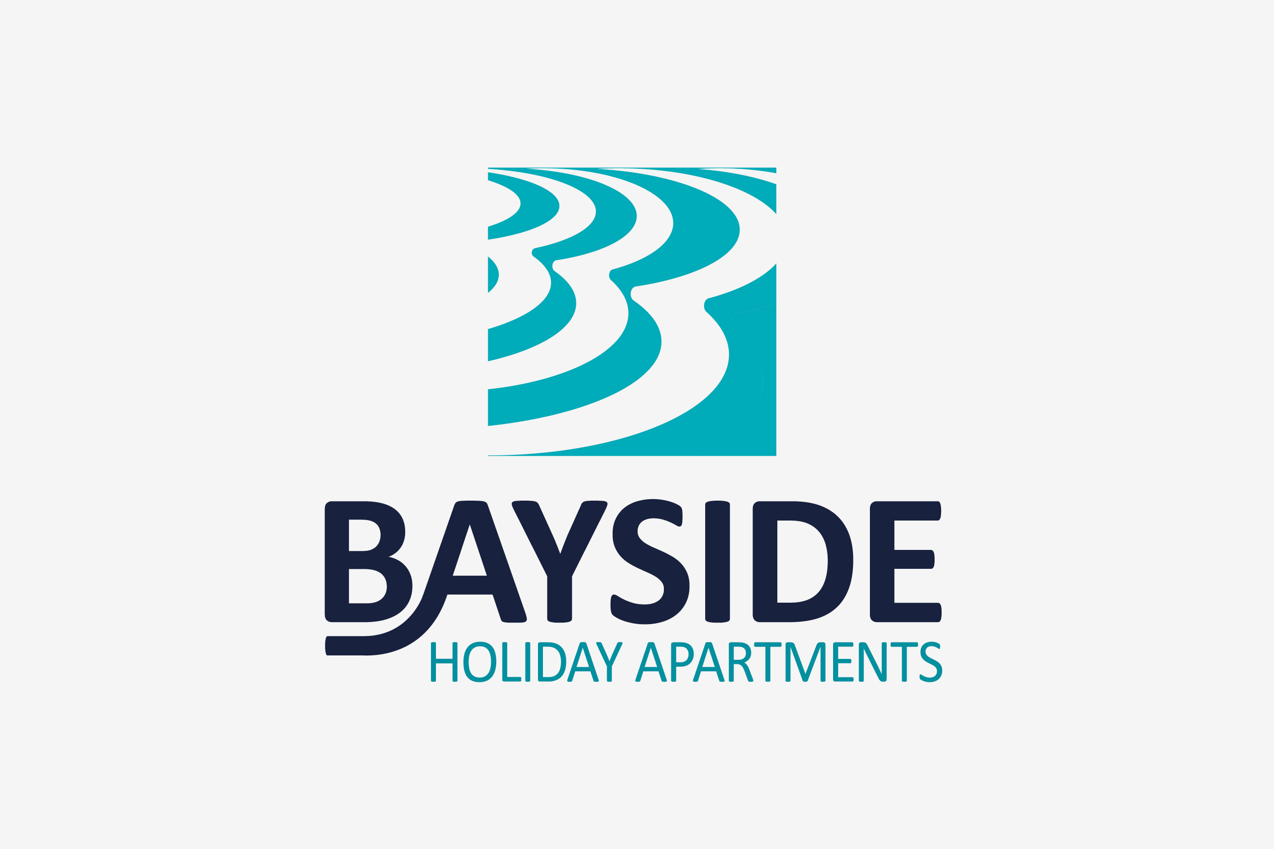 bayside holiday apartments logo maker and co design