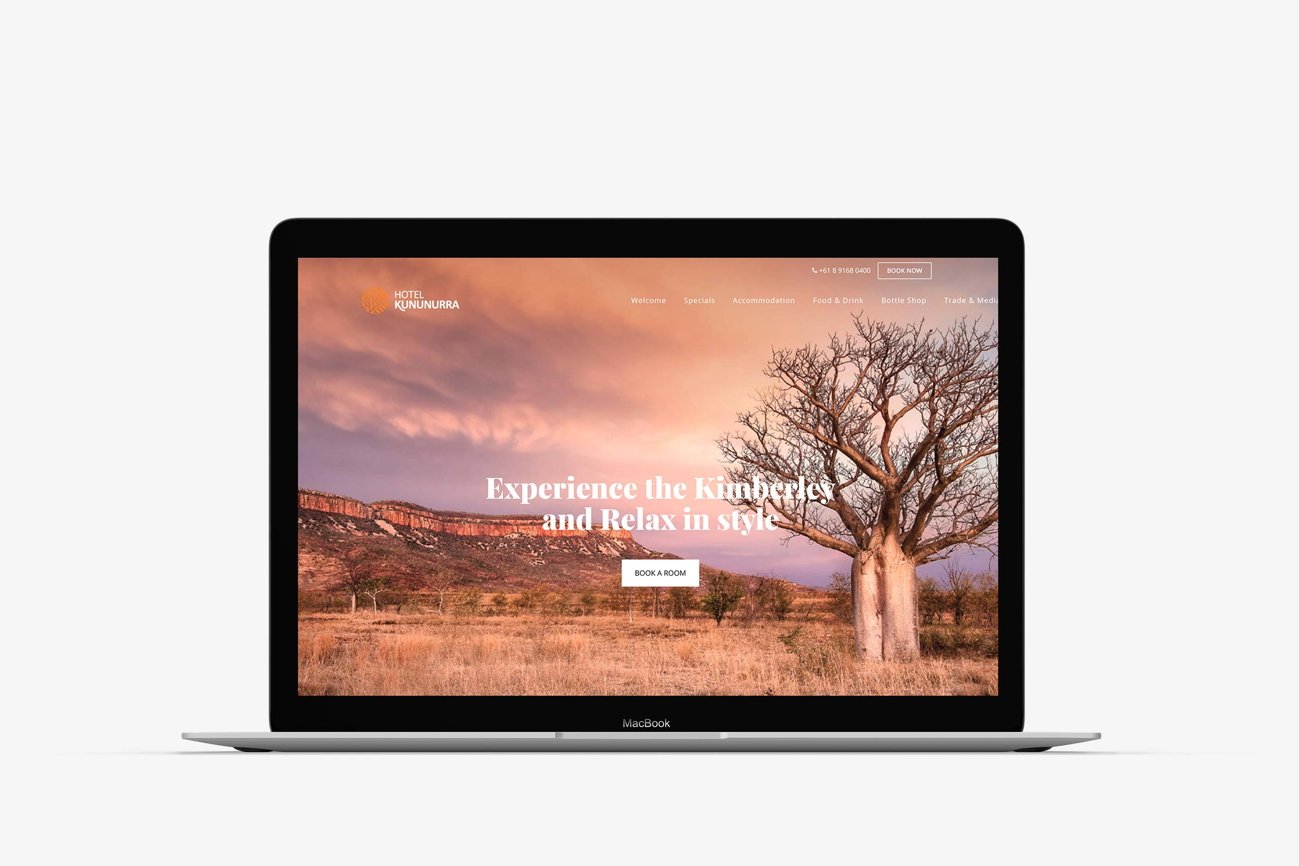 hotel kununurra website design maker and co design