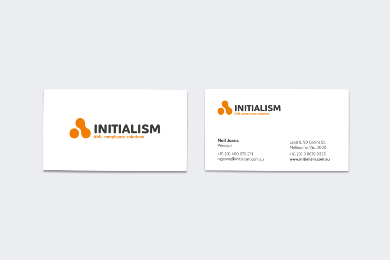 initialism business stationery maker and co design