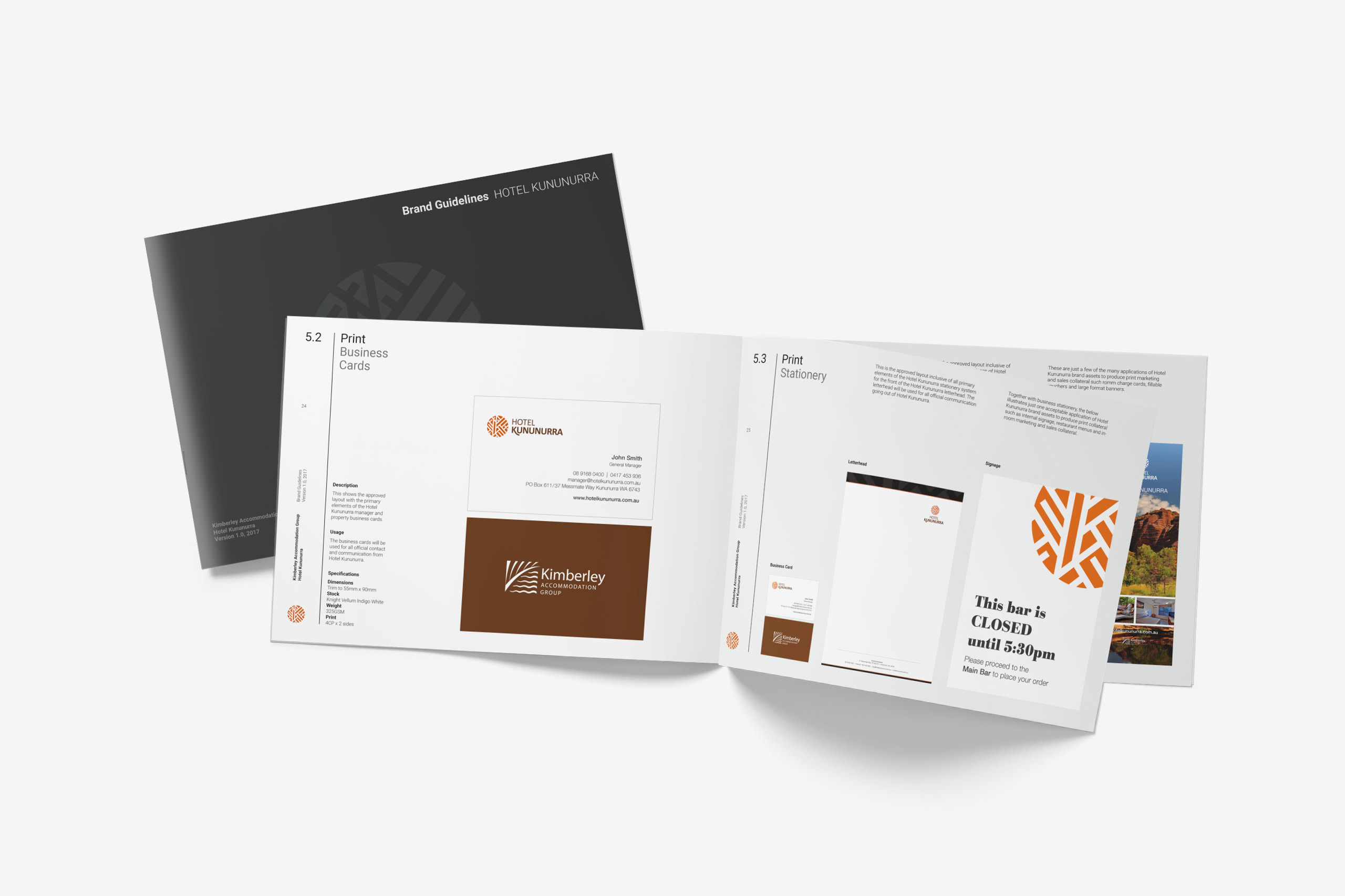 kimberley accommodation group brand guidelines maker and co design