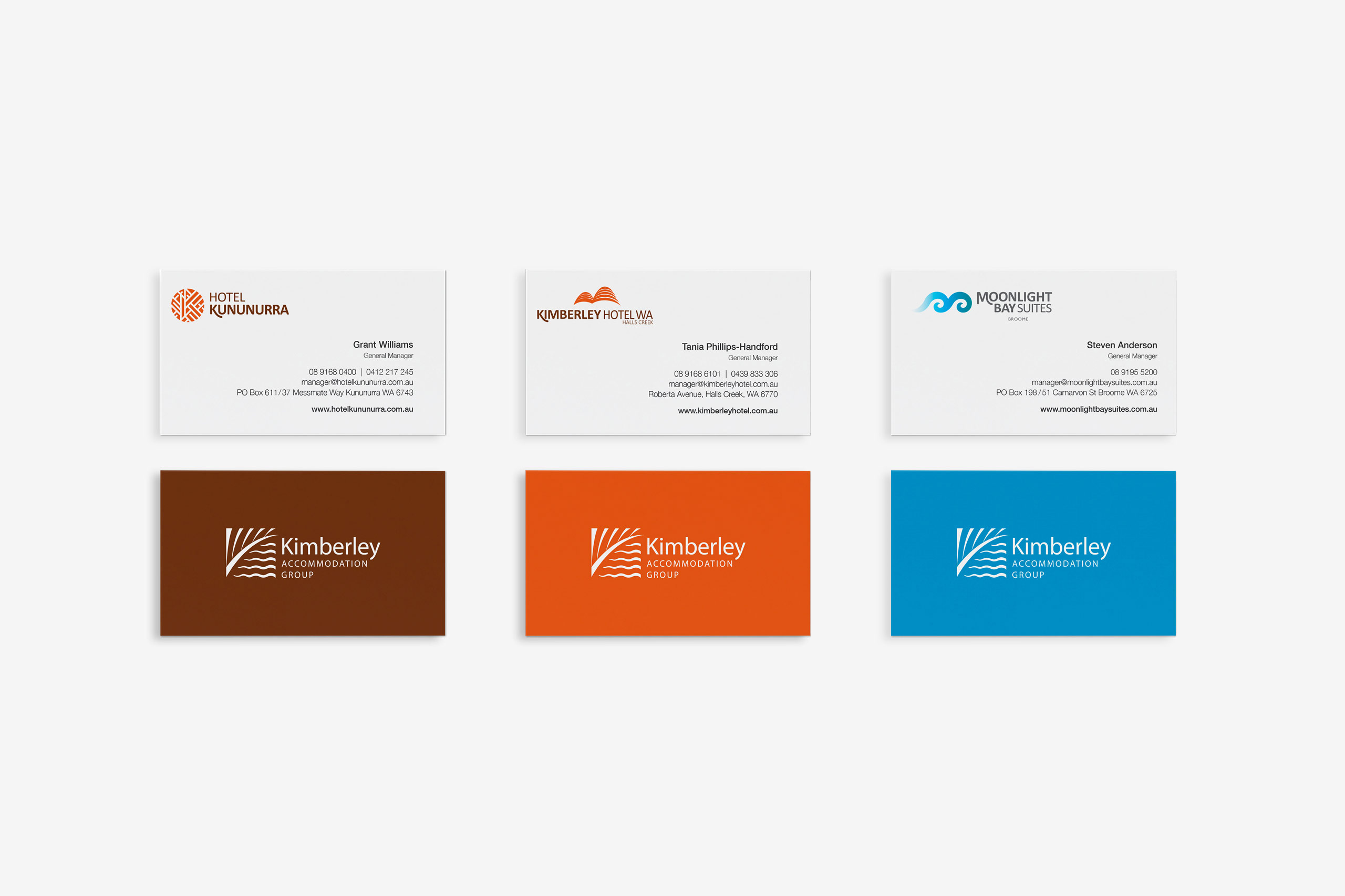 kimberley accommodation group business cards maker and co design