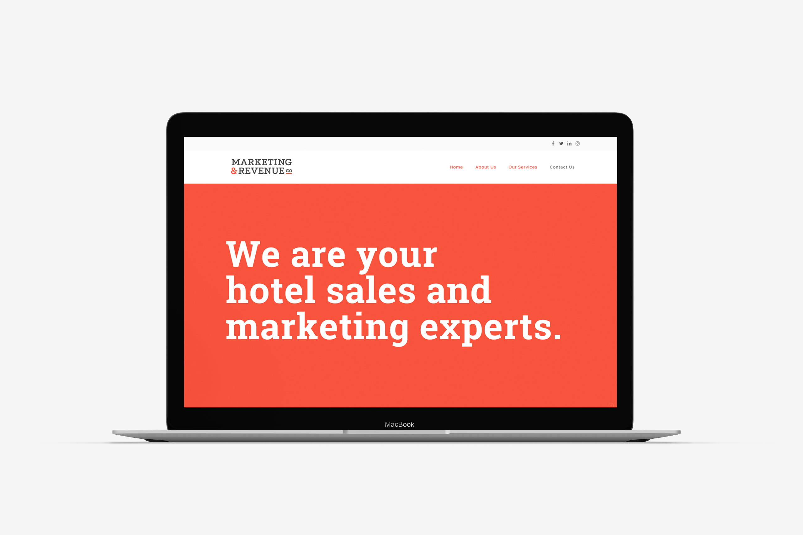marketing and revenue company website development maker and co design
