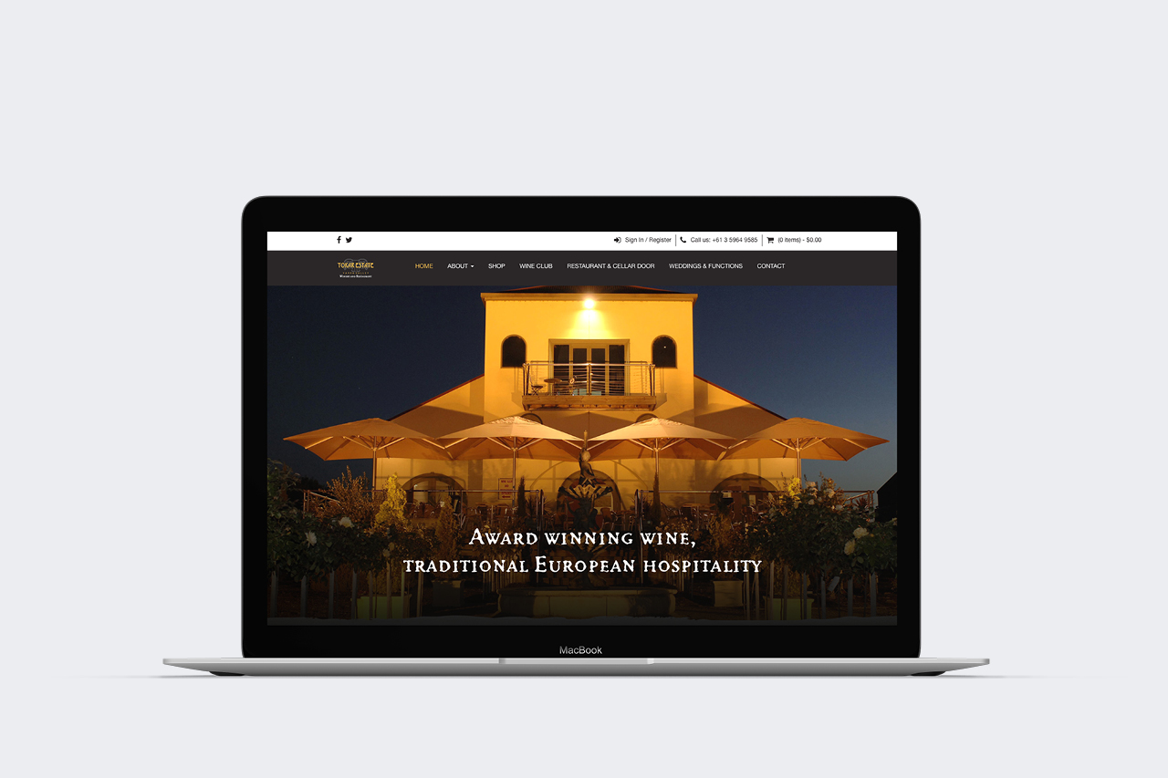 tokar estate website design maker and co design