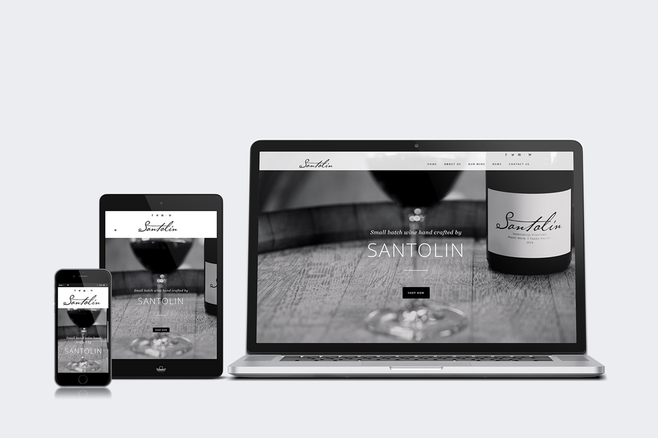 website design development yarra valley santolin wines 02