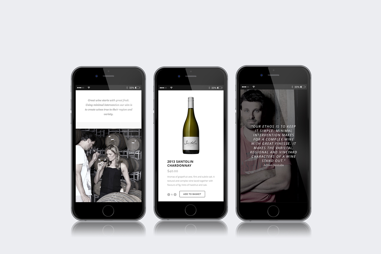 website design development yarra valley santolin wines 03