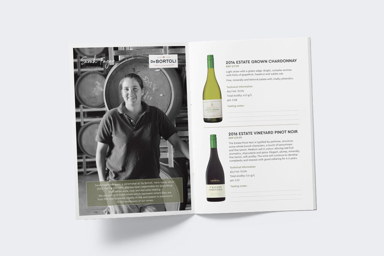 yarra valley wine women booklet design Maker and co design