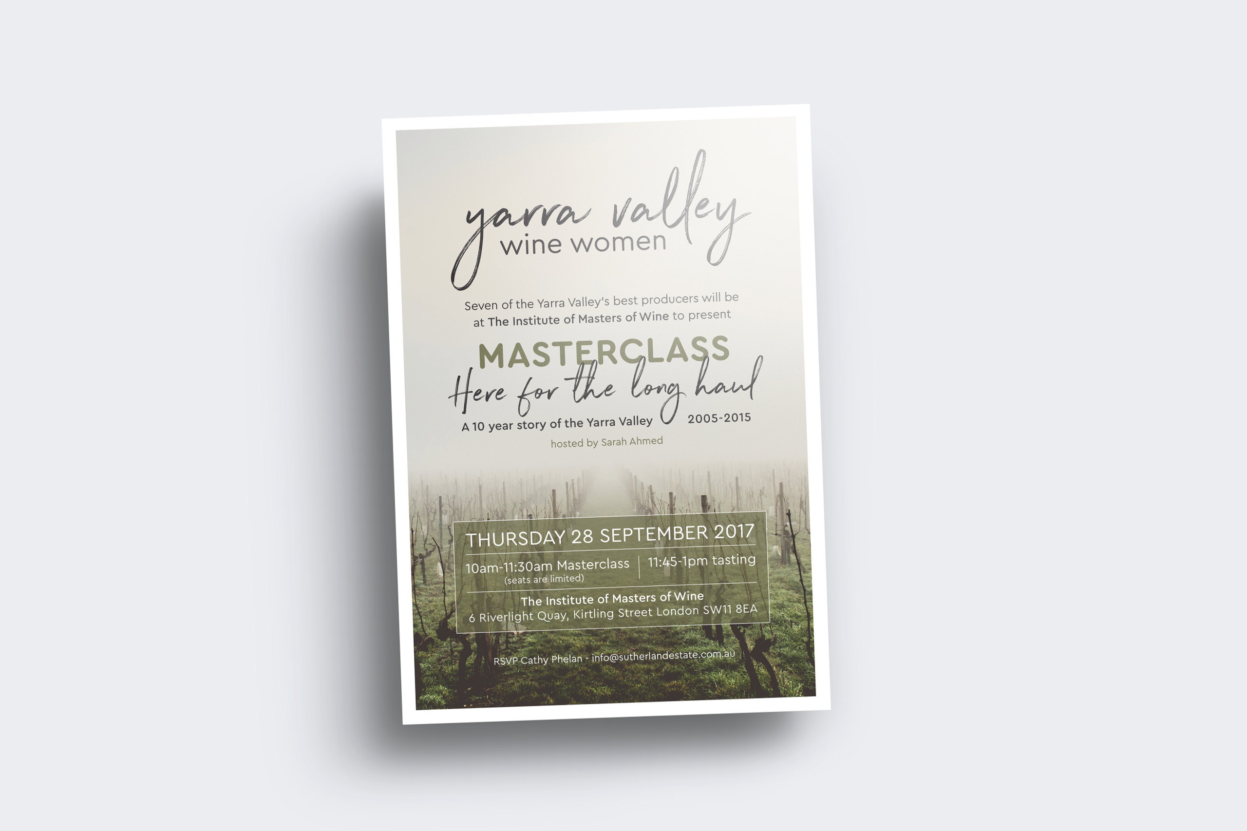yarra valley wine women invitation design Maker and co design