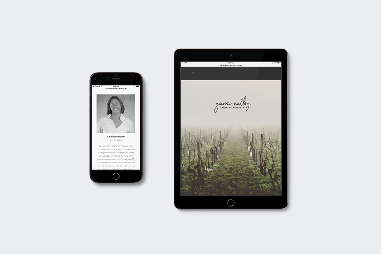 yarra valley wine women responsive website Maker and co design