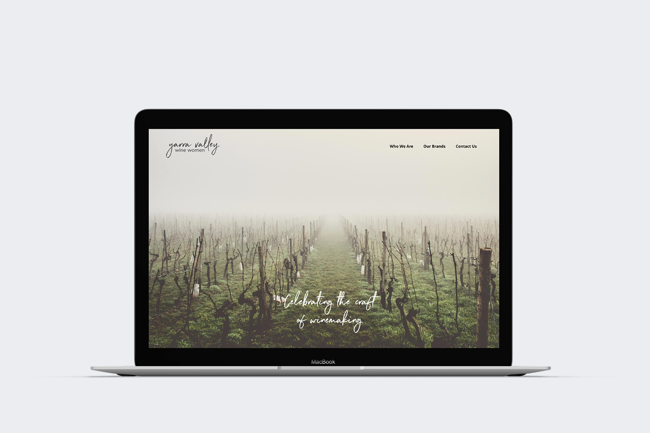 yarra valley wine women website development Maker and co design