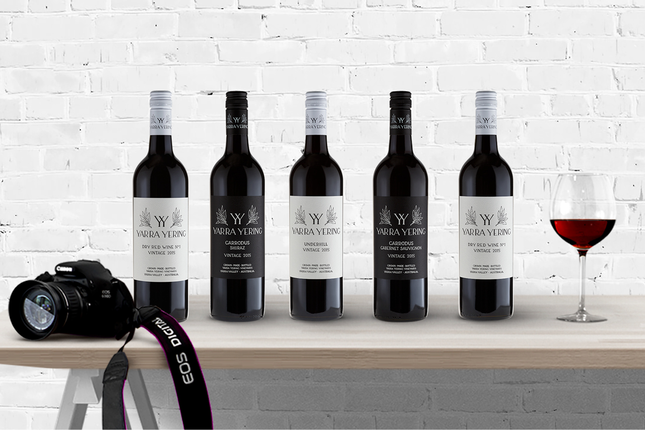 yarra yering bottle shots maker and co design