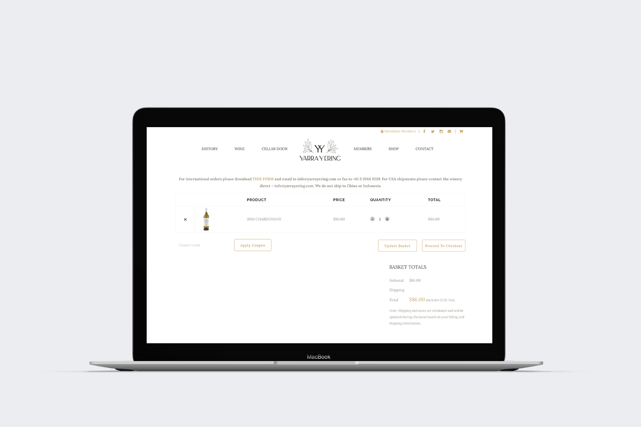 yarra yering ecommerce website 02 maker and co design