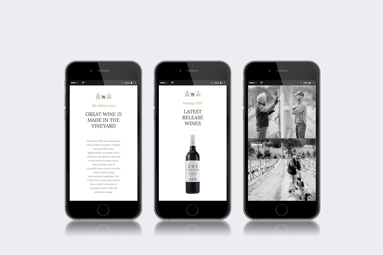 yarra yering mobile responsive website 02 maker and co design