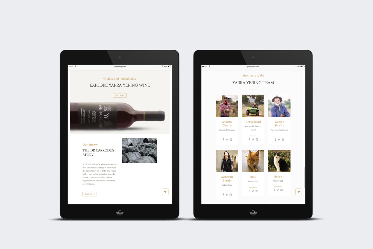 yarra yering mobile responsive website maker and co design