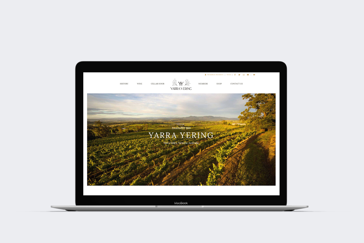yarra yering website development maker and co design