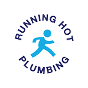 running hot plumbing client logo colour