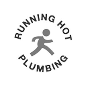 running hot plumbing client logo