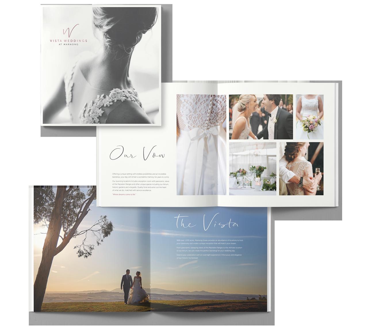 vista weddings brochure layout maker and co design 2