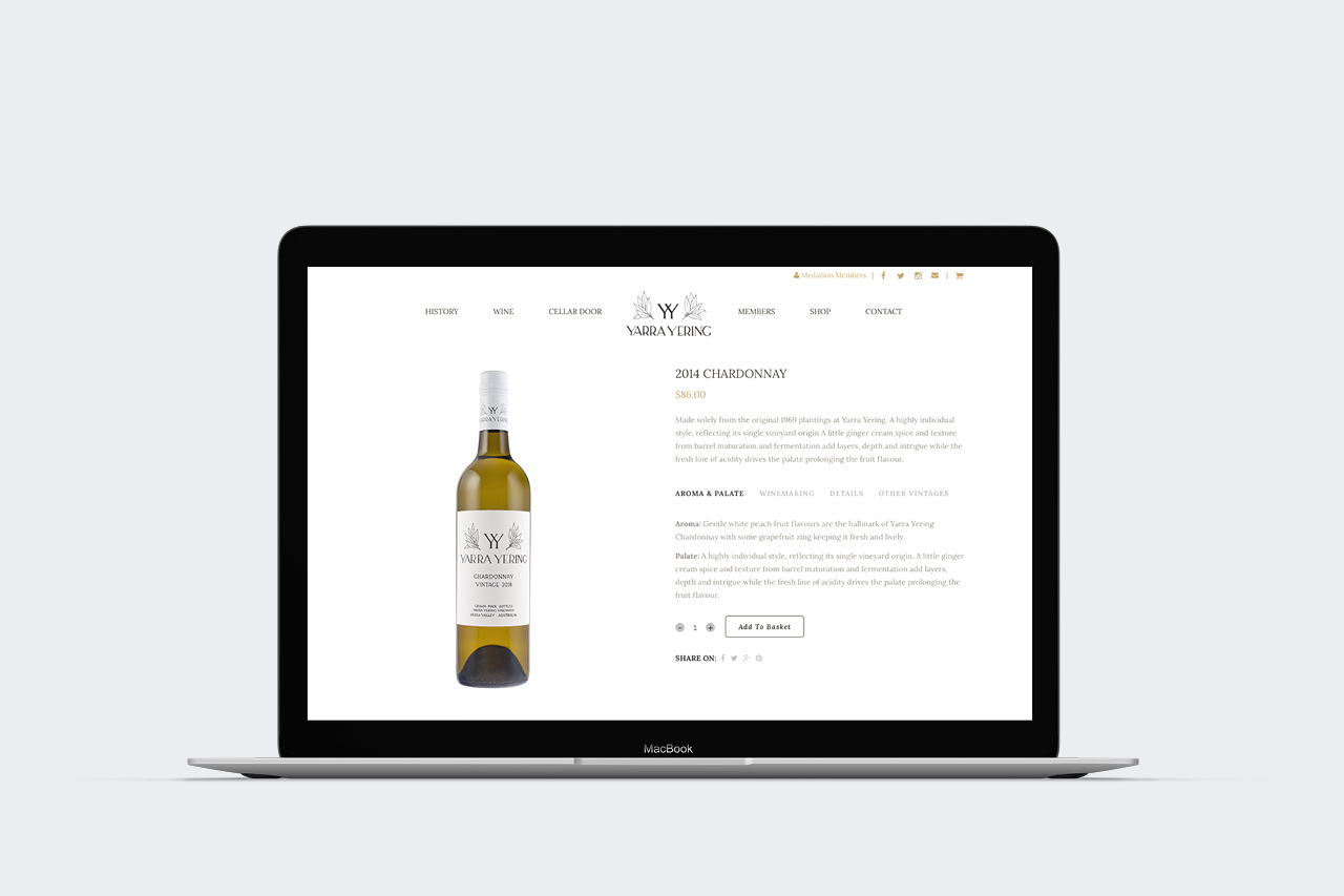 yarra yering ecommerce website maker and co design