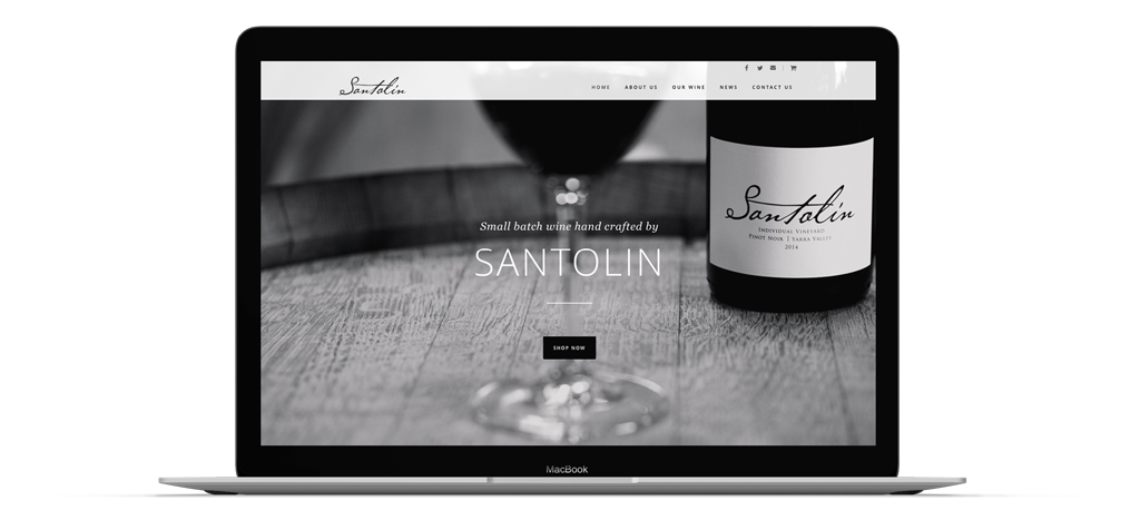 website development santolin maker co design